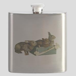 Bunny rabbits Flask