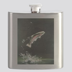 rainbow-trout-fish-jumping Flask