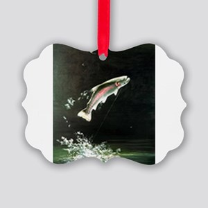 rainbow-trout-fish-jumping Picture Ornament