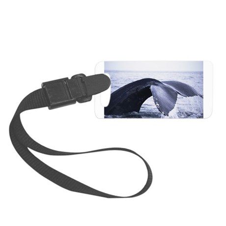 whales tail Small Luggage Tag