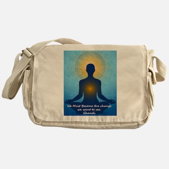 Ghandi quote Messenger Bag