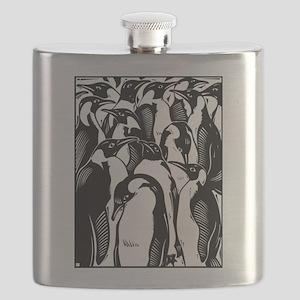 Penquins Flask