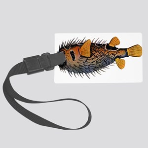 Blow fish Large Luggage Tag