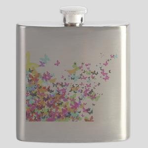 japanese butterflies Flask
