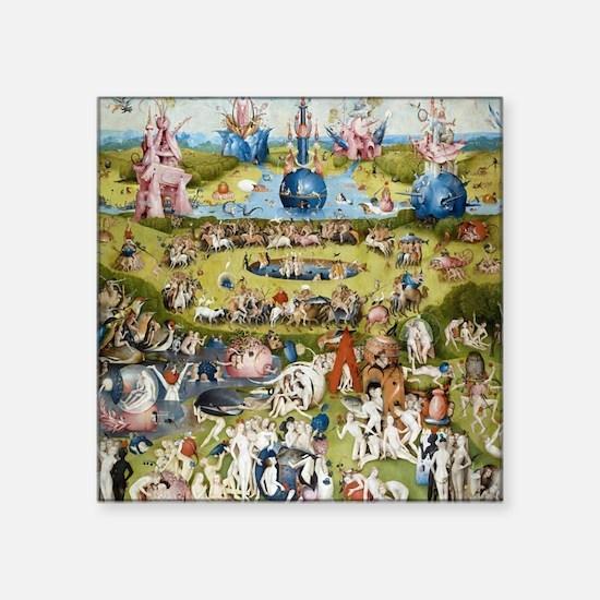 "Bosch The Garden of Delights Square Sticker 3"" x 3"