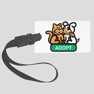 adopt animals Large Luggage Tag
