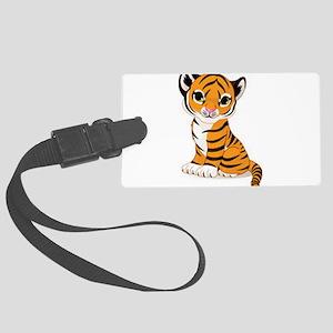 baby tiger cub Large Luggage Tag
