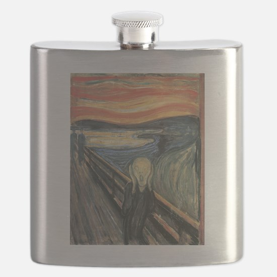 The Scream painting Flask