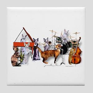 Devon Eight-piece Jazz Band Tile Coaster