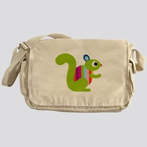 Rainbow Squirrel Messenger Bag