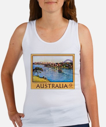 Australia Travel Poster 10 Women's Tank Top