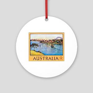 Australia Travel Poster 10 Ornament (Round)