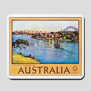 Australia Travel Poster 10 Mousepad
