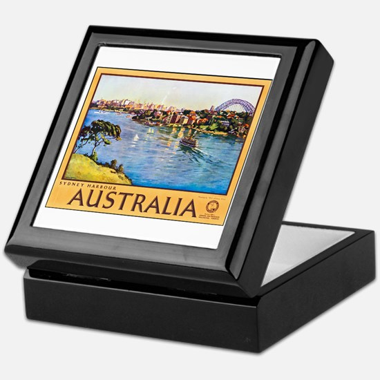 Australia Travel Poster 10 Keepsake Box
