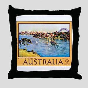 Australia Travel Poster 10 Throw Pillow