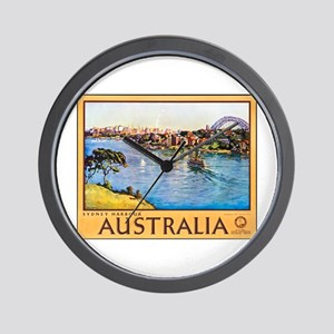 Australia Travel Poster 10 Wall Clock