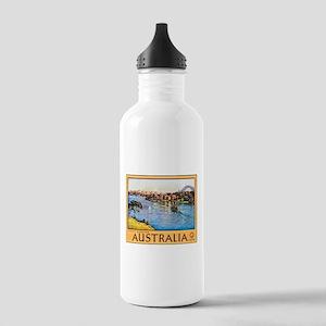 Australia Travel Poster 10 Stainless Water Bottle