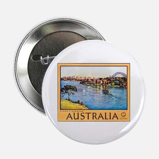 "Australia Travel Poster 10 2.25"" Button (10 pack)"