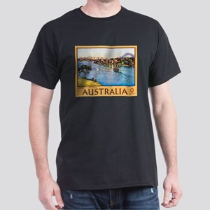 Australia Travel Poster 10 Dark T-Shirt