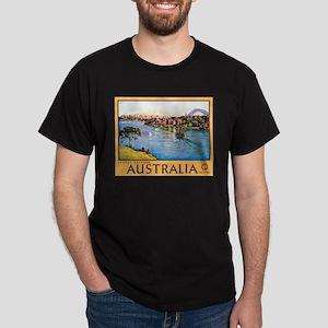 Australia Travel Poster 10 Dark T-Shirt
