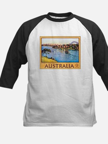 Australia Travel Poster 10 Kids Baseball Jersey