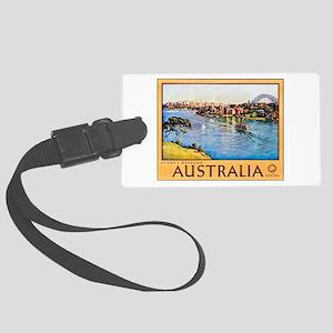 Australia Travel Poster 10 Large Luggage Tag