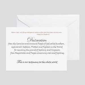 Quaker Peace Testimony Greeting Cards (Pk of 10)