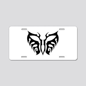 Tribal Butterfly Aluminum License Plate