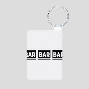 BAR BAR BAR Aluminum Photo Keychain