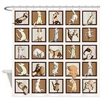 Ferret Squares Shower Curtain