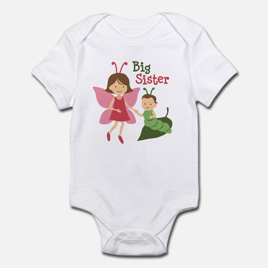 Big Sister - Butterfly Infant Bodysuit
