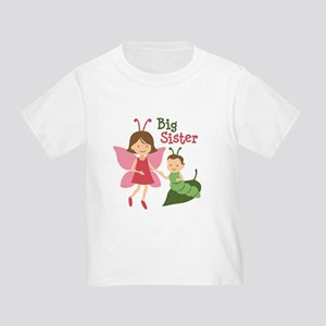 Big Sister - Butterfly Toddler T-Shirt