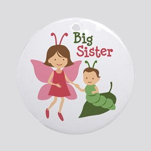 Big Sister - Butterfly Ornament (Round)