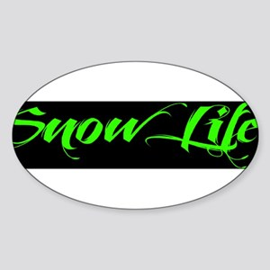 2013 Green Snowlife with BlackOut Sticker (Oval)