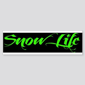 2013 Green Snowlife with BlackOut Sticker (Bumper)