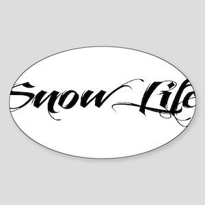 2013 Snowlife in Black Sticker (Oval)