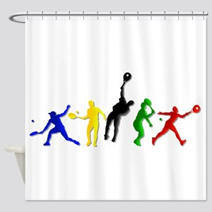 Tennis Players Shower Curtain