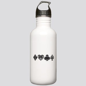 Card Symbols Stainless Water Bottle 1.0L