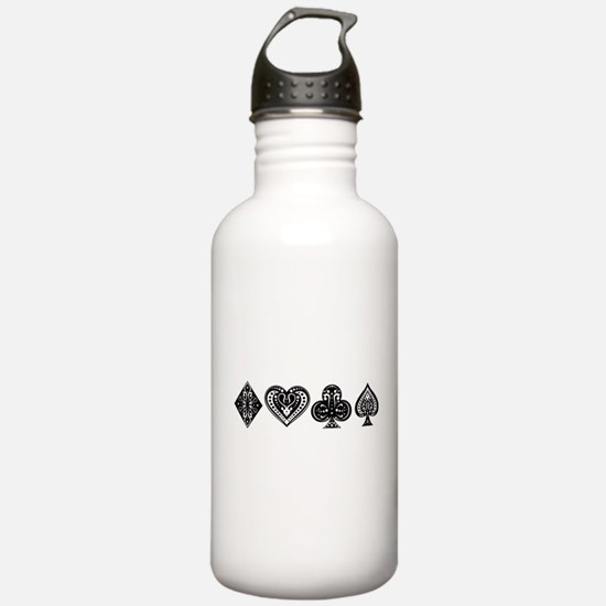 Card Symbols Sports Water Bottle