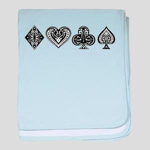 Card Symbols baby blanket