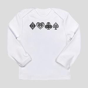 Card Symbols Long Sleeve Infant T-Shirt