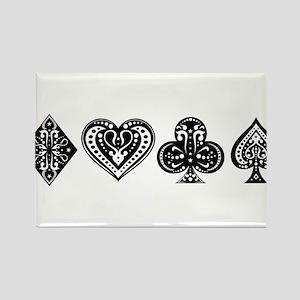 Card Symbols Rectangle Magnet