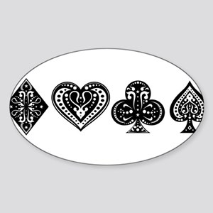 Card Symbols Sticker (Oval)