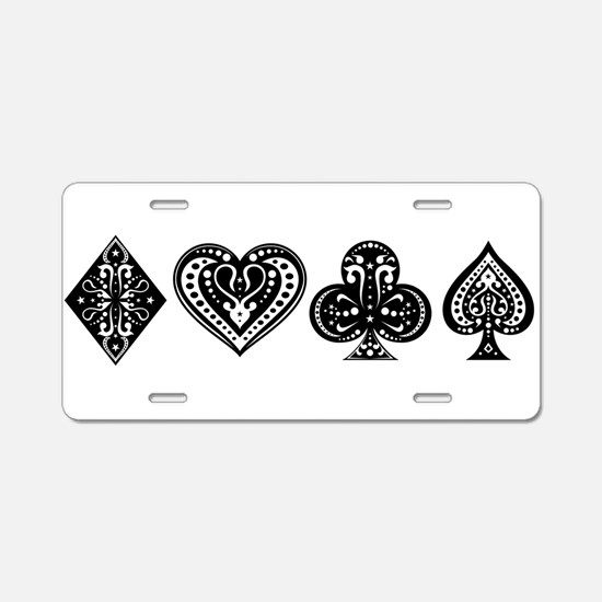 Card Symbols Aluminum License Plate