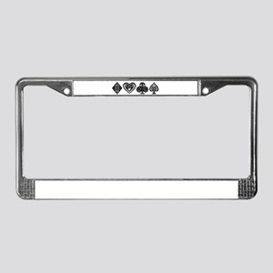 Card Symbols License Plate Frame