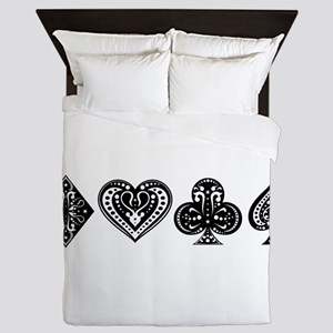 Card Symbols Queen Duvet