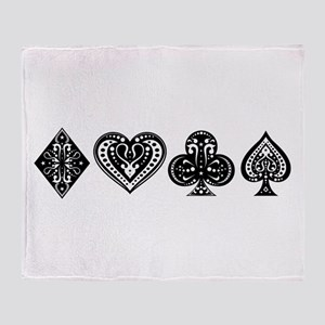 Card Symbols Throw Blanket