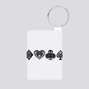 Card Symbols Aluminum Photo Keychain