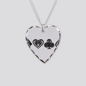 Card Symbols Necklace Heart Charm