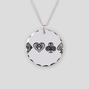 Card Symbols Necklace Circle Charm